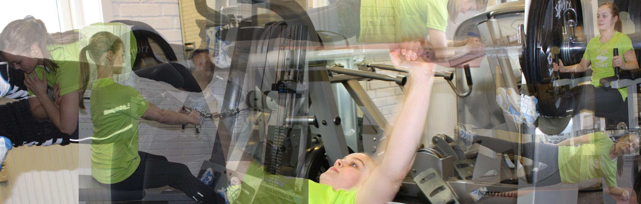 Træning i fitness-rum